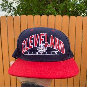 Vtg Cleveland Indians American Needle Snapback Hat